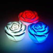 Romantic Rose Flower Color Changing Led Night Light LED Floating illumination lamp for Home Decoration Wedding party supplies