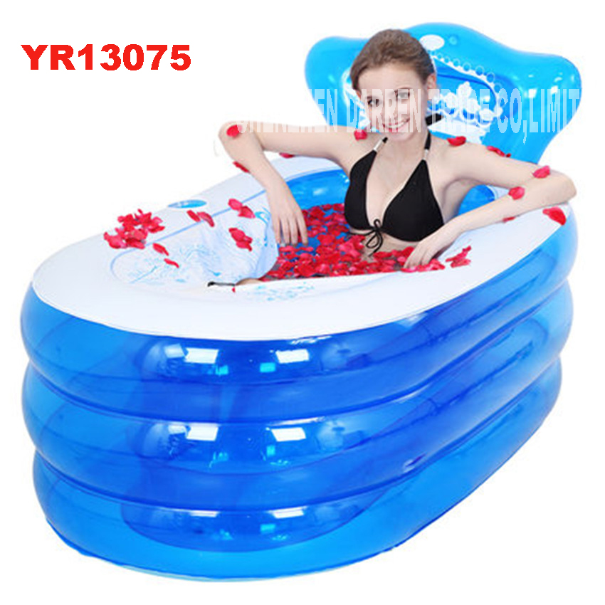 YR13075 portable toilet bathtub for adults adult plastic inflatable bath tub inflatable collapsible inflavel SPA 130*75*70cm(China)