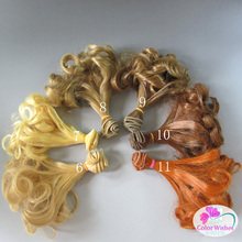 1pcs 15cm&25cm*100cm wigs Light golden \ brown and other colors Hair for dolls BJD/SD Doll(China)