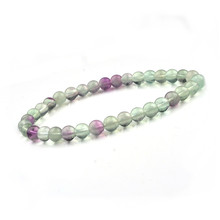 6mm Natural Stone Strand Bracelets Casual Men Jewelry Fluorite Hematite Beads Bracelets & Bangles for Women 2016 Gift(China)