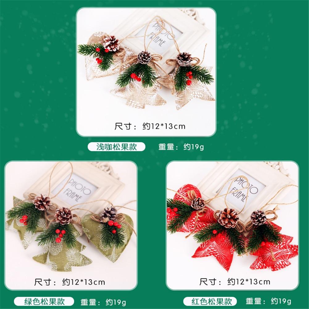 10PCS Christmas Pine Cones Baubles Xmas Tree Decoration Ornament Gift Decors JS
