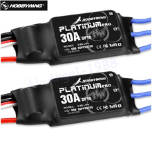 Free shipping 2pcs/lot HOBBYWING Platinum 30A Pro 2-6S Electric Speed Controller (ESC) OPTO - Specially for Multi-rotor(China)