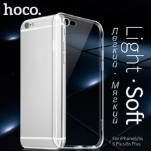 HOCO Soft Ultra thin Phone Cases For iPhone 6 6s PLUS 4.7 & 5.5 Inch Clear Transparent Case Protection Cover For Apple Shell