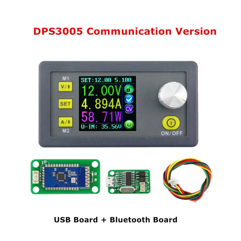 1pc LCD Voltmeter Communication Function DPS3005 Voltage ConverterConstant Voltage Current Step-down Adjustable DC Power Supply<br>