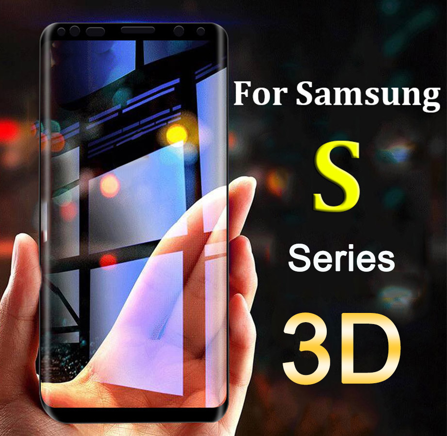 Защитное стекло для Samsung S9 S8 Plus S7 S6 Edge закаленное защиты экрана 3D чехол на Galaxy 8s 9 s 7