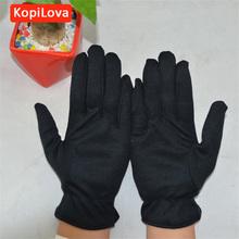 KopiLova 12 pairs Thin Black Cotton Etiquette Reception Parade Performances Gloves Working Gloves Wholesale Safety Gloves(China)