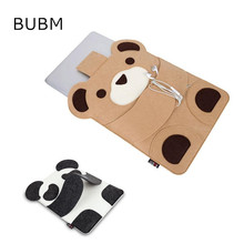 "Newest HOT Cute Brand BUBM Felt Bag Sleeve Case For Macbook Laptop Air,Pro 11"",11.6"",13.3"",13"",Bag For Laptop Free Drop Shipping"