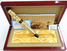 Jinhao Two Dragon Play Pearl Metal Roller Ball Pens Ballpoint Pen with Original Box for Gift Free Shipping