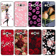 Cute Cartoon Hard Plastic Case Coque For Samsung Galaxy Core 2 Duos SM-G355H Dual G355H G355 Colorful Fashion Cover Funda Capa