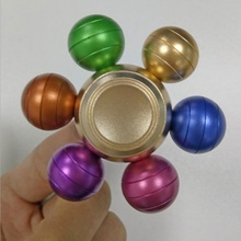 Metal Colorful Fidget Spinner Aus Metall 6 Balls Spinner Torqbar Fidget Toy Anti Stress Spinners Desk Office Party Detachable