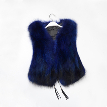 2017 Female Fashion Fur Coat Vest Short Fur Vest Vest Raccoon Slim Slim.