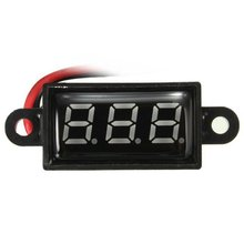 New Arrival Ship from CN&USA Voltage Meter Hot Sale Waterproof 0.28 DC 3.5-30V Mini Digital LED Voltmeter(China)
