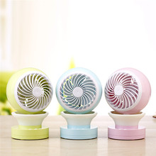 Mini USB Fan Cartoon Colorful Light Fan Convenient Desk Cooling Fan USB Fan Mini Air Conditioner for computer and Office or home(China)