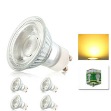4x Dimmable 10W GU10 COB LED Energy Bulbs Spot light lamp with Beautiful Warm Cold White Colour AC195-240V