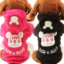New Fleece Puppy Dog Coat Cat Pet Clothes Cute Bear Costume Warm Autumn Yorkie  Hoodie Clothing for Dogs Teddy
