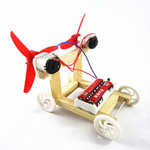 Physical Science experiments DIY electric Wind Car Child kids students Technology creativity training happy learning(China)