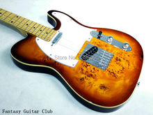 Custom Shop tele guitar vs burl maple cover exclusive tl guitar high quality details on show free shipping