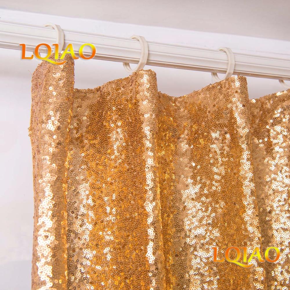 Gold Sequin Curtain-004