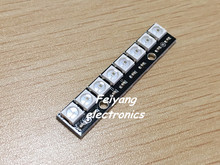 8 channel WS2812 5050 RGB LED lights built-in full color-driven development board