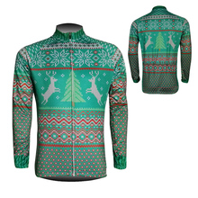 2016 Latest Christmas Elk Style Mens Long Sleeve Cycling Jersey Gear Bike Riding Tops Outfits Sweater Unique Garments