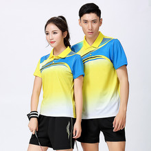 Adsmoney Women/Men table tennis Print clothes suits team game Polo T Shirts shorts Sportswear badminton shirt soccer jerseys(China)