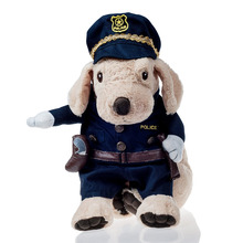 Clothes for Dogs Policeman Costume Pet Cat Puppy Coat Police Uniform Party Clothes Suit for Dog Business Attire 24