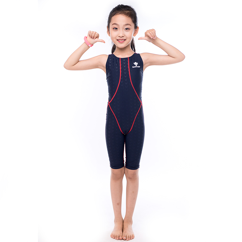 HXBY Professional Girls Swimming Suit One Piece Suit Training Swimsuit Child Girl Quick Dry Swimming Wear Swimming Suit<br>