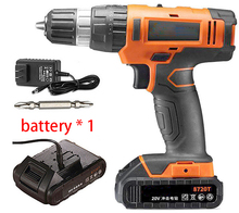 20V rotary hammer drill Impact drill wall wood metal Electric Screwdriver Cordless Drill Industrial Power tool