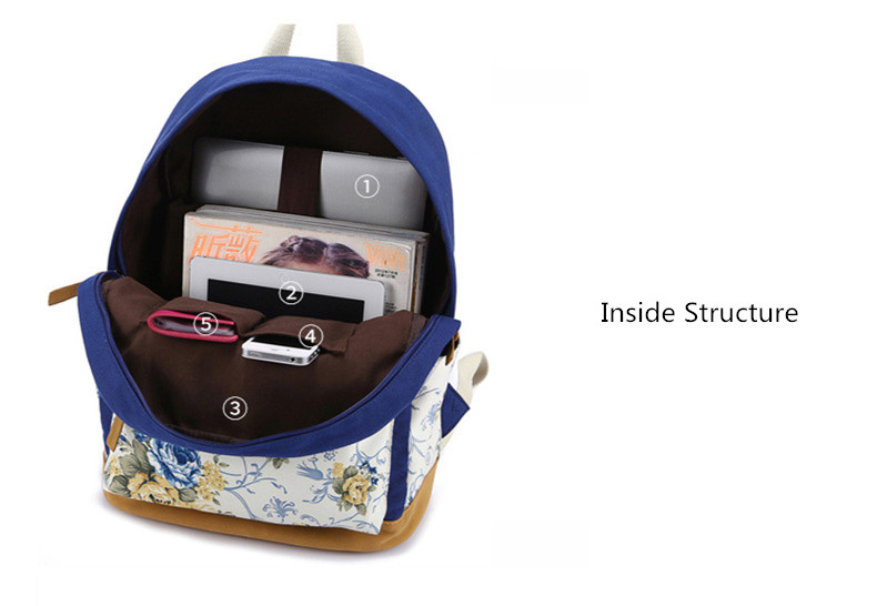 حقيبة مدرسية للفتيات قماش 10