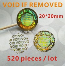 520 pieces / lot Hologram VOID IF REMOVED Security Tamper Evident Warranty Stickers(China)