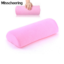 Soft Pink Cotton Cloth Hand Rest Holder Nails Art Design Equipment Cushion Pillow Manicure Sponge Nail Tools