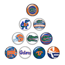 New ZB0393 mixed 10pcs NCAA FLORIDA GATORS team logo 18mm/20mm/25mm glass cabochon & snap buttons for DIY jewelry(China)