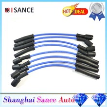 ISANCE Ignition Spark Plug Wire Cable Spiral LS1 Set 8.5mm 32819 For Chevrolet Corvette Camaro 5.7L 1998 1999 2000 2001-2003(China)