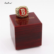 High Quality 1986 Boston Red Sox Ring World Series Champion Champion Ring and Ring Wooden Box Sports Super Bowl(China)