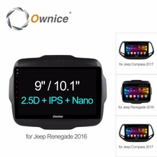 "10.1""/9"" Octa 8 Core 2G RAM+32G ROM 4G WiFi Android 6.0 Car DVD Player For Jeep Renegade Compass Cherokee 2016 GPS Radio Stereo"