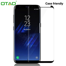 OTAO Case Friendly 3D Curved Full Cover Tempered Glass Screen Protector for Samsung Galaxy S8 S8 Plus Glass Phone Screen Saver