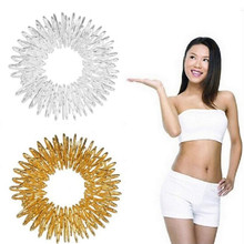 Silver Gold Acupuncture Finger Health Care 10X Cool Rings Massage