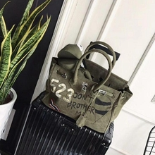large big totes bag canvas shoulder bag bao bao women green frog flap handbag 2017 autumn winter Japan fashion new arrivals