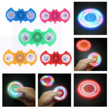 Luminous Fidget Spinner LED Light Colorful Finger Spinner with 7 flashes Rotation Stress Reliever Hand Spinner For Kid Adults