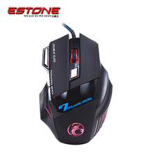 USB Mouse Double Click 7 Buttons 3200DPI Gaming Mouse X7 USB Wired Optical Computer Mouse Gamer Mice for PC Laptop for CSGO LOL