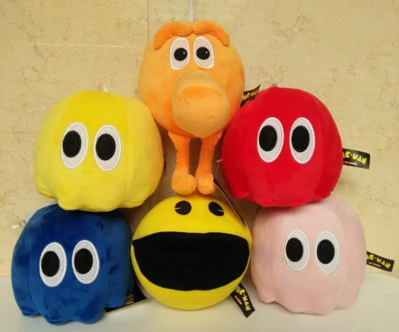 Popular Movie Pixels Cute Pac-man Q-bert 6pcs/set Plush Soft Doll Animal Stuffed Toy For Baby Kids Birthday Gift <br><br>Aliexpress