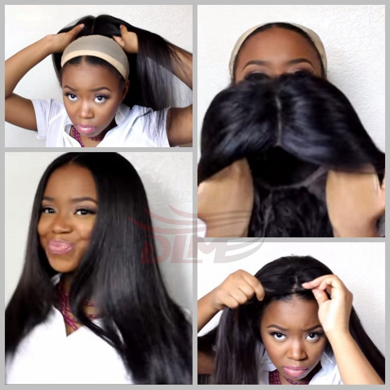 7A Virgin Human Brazilian Hair Lace Front Wigs Glueless Full Lace Front Wig Natural Black Straight Wigs for Black Women<br><br>Aliexpress
