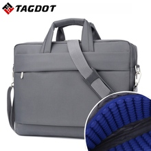 Waterproof Laptop bag 17.3 17 15.6 15 14 inch Business Men Computer bags Fashion Handbags Women Shoulder Notebook bag(China)
