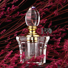 3ml Small Empty Crystal Perfume Bottle Containers Clear Lotus Decorate Perfumes Jar 3.1*1.5 in Refillable Bottle