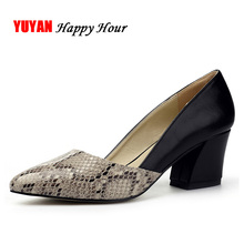 New 2017 Spring Summer High Heels Women Brand Heeled Shoes Fashion Women's Pumps Sexy Pointed toe Thick Heel 6cm ZH1657