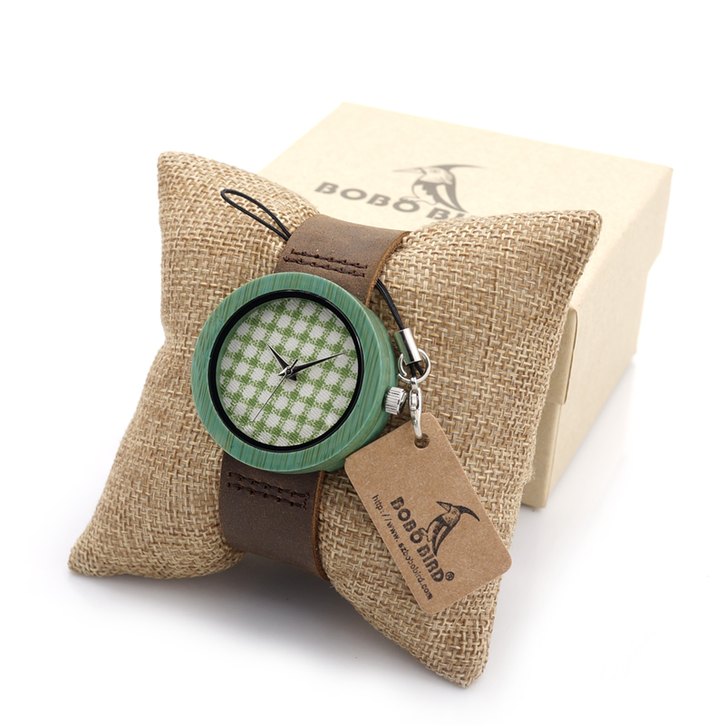 BOBO BIRD D18-6 Women Wooden Case Watch Fabric Grid printed Dial Japan Movement Ladies Quartz-watch in Gift Box relogios feminin<br><br>Aliexpress