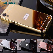 "Fashion Luxury Rose Gold Silver Black Beauty Frame Mirror Case For HTC Desire 530 630 5.0"" Back Shell Cover Housing"