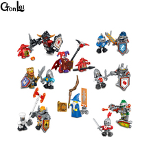 (GonLeI) 8pcs/lot NEW Nexo Knights Future Shield Building Blocks Castle Warrior Nexus Kids Toys Gift Compatible With Lepin