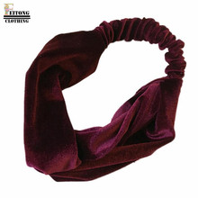 FEITONG 2017 princess hair accessories Women Velvet Cross Twist Headband Hair Band Turban Elastic Headband Bandage Hairband#15