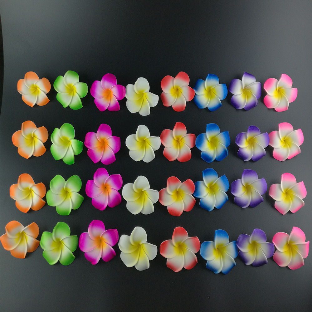 10 Mixed Color Foam Hawaiian Plumeria Flower Frangipani Flower